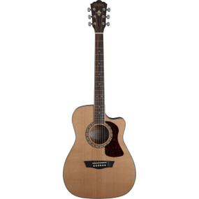 Washburn Heritage Series HF11SCE Folk Style Acoustic Guitar, Natural