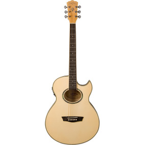 Washburn Festival Series EA20 Mini Jumbo Acoustic Electric Guitar, Natural