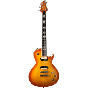 Washburn PXL200FHB Parallaxe Single Cutaway Electric Guitar, Flame Honey Burst