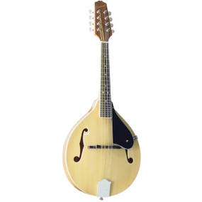 Savannah SA-120-NA Louisville Flamed A-Style Mandolin, Natural