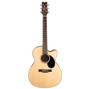 Jasmine JO36CE-NAT J-Series Orchestra Cutaway Acoustic Electric Guitar, Natural