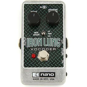 Electro-Harmonix EHX Iron Lung Vocoder Guitar Vocal Talk Box Effects Pedal