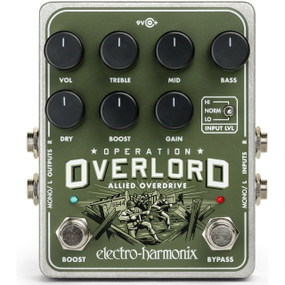 Electro-Harmonix EHX Operation Overlord Allied Overdrive Multi-Instrument Effects Pedal