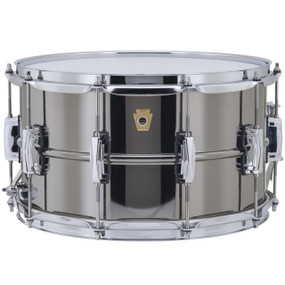 "Ludwig LB408 Black Beauty Supraphonic Snare Drum with Imperial Lugs, 8""x 14"""