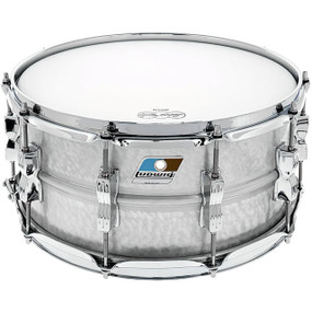 """Ludwig LM405K Acrolite Hammered Aluminum Shell Snare Drum w/ Twin Lugs, 6.5""""x 14"""""""