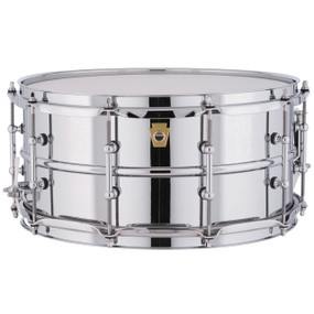 """Ludwig LM402T Supraphonic Snare Drum, Smooth Aluminum Shell w/ Tube Lugs, 6.5""""x 14"""""""