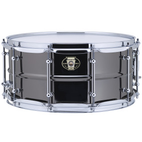 "Ludwig LW6514C Black Magic Snare Drum w/ Chrome Hardware & Tube Lugs, 6.5""x14"""