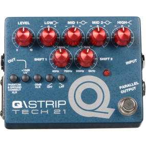 Tech 21 Q\STRIP Dual Parametric EQ Instrument DI Pedal, QST-R