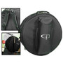 GP Percussion DB1455X Padded Backpack-Style Snare Drum Bag, Black