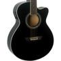 Washburn Festival Series EA12B Mini Jumbo Cutaway Acoustic Electric Guitar (EA12B)