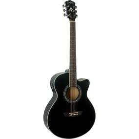 Washburn Festival Series EA12B Mini Jumbo Cutaway Acoustic Electric Guitar