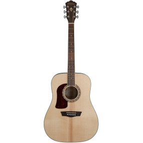 Washburn HD10SLH Heritage Series Left-Handed Dreadnought Acoustic Guitar, Natural (HD10SLH)