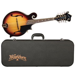 Washburn M3SWK Carved All Solid F-Style Mandolin w/ Case, Sunburst