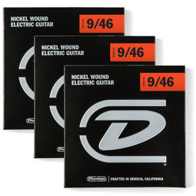 Dunlop DEN0946 Light Heavy Electric Guitar Strings, 3 PACK