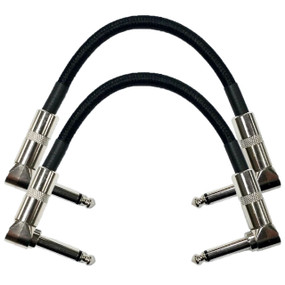 "Strukture S6P48 Dual Right Angle 6"" Woven Patch Cable, 2 PACK"