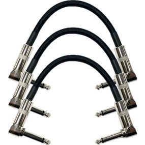 "Strukture S6P48 Dual Right Angle 6"" Woven Patch Cable, 3 PACK"