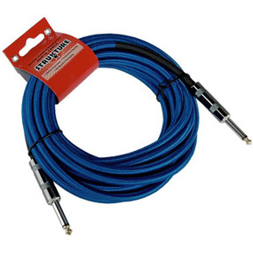 Strukture SC186BL 18.6ft Woven Guitar & Instrument Cable, Blue