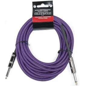 Strukture SC186PP 18.6ft Woven Guitar & Instrument Cable, Purple