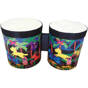"GP Percussion GPB56 Child's Percussion 5"" and 6"" Bongo Set, Multi Color"