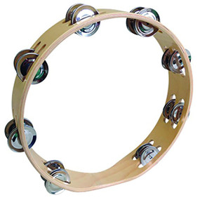 "GP Percussion 10"" Open 2-Row Tambourine, GPTO10-2"