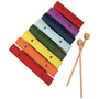 GP Percussion GPWX8 Beginner Percussion 8-Note Xylophone, Multi-Color