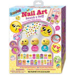 Hot Focus Girls Scented Nail Art Emoji Polish Set, HF-041BLEM