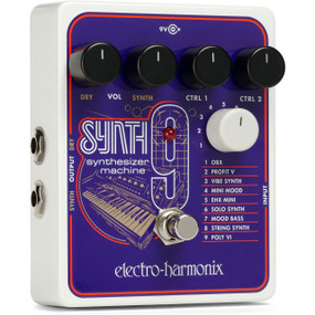 Electro-Harmonix EHX SYNTH9 Synthesizer Machine Guitar Effects Pedal
