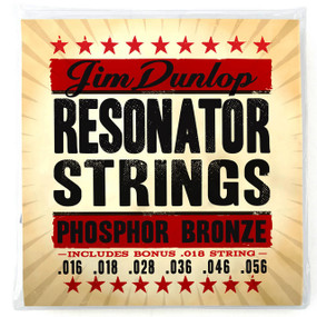 Dunlop DOP1656 Phosphor Bronze Resonator Strings, 6-String Set w/ Bonus String