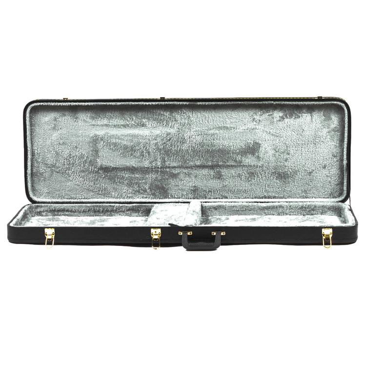 Guardian CG-018-B Economy Hardshell Case for Electric Bass Guitar, Black