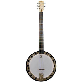 Deering Goodtime Six-R Steel 6-String Banjo with Resonator, Banjitar