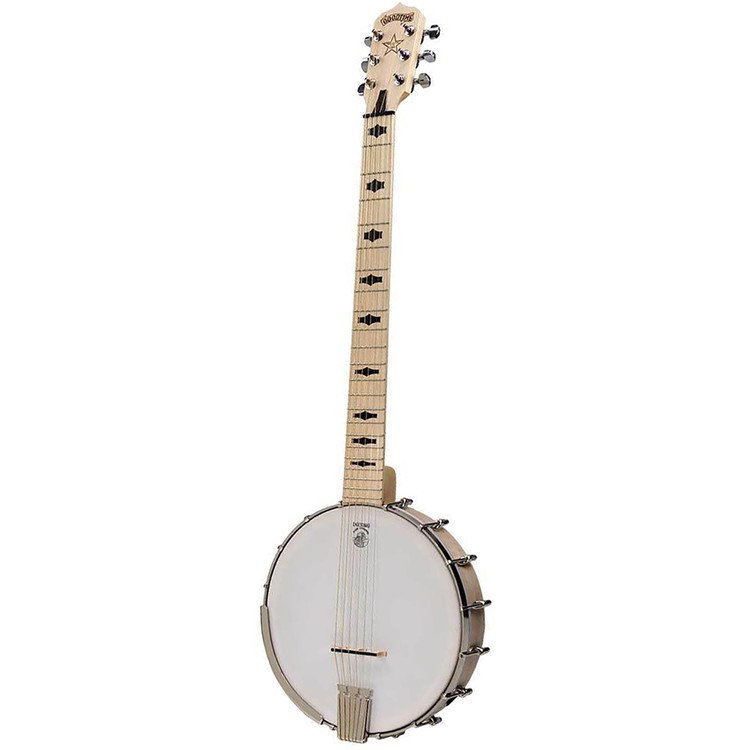 Deering Goodtime Six 6-String Open Back Banjo, Steel String