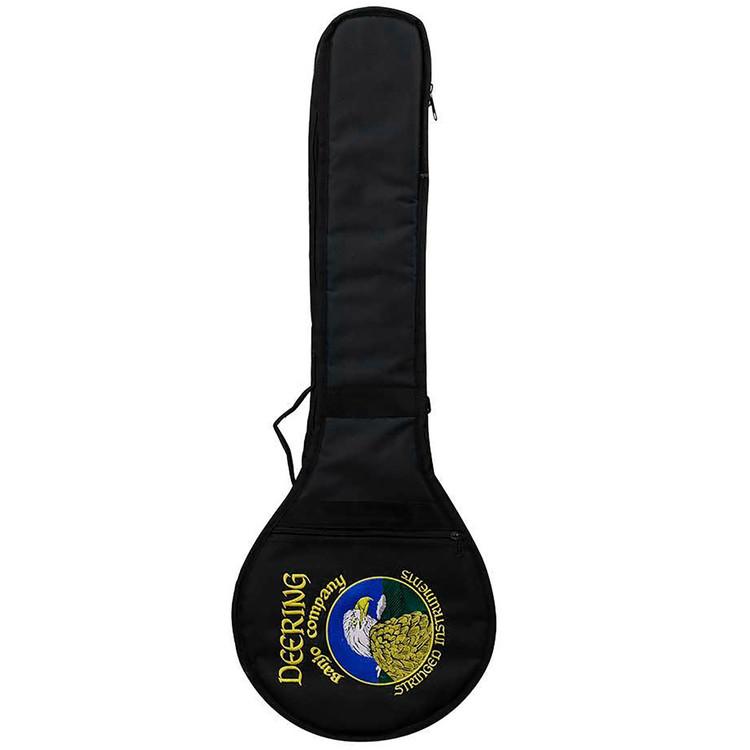 Deering Vintage Eagle Padded Gig Bag for Open Back Banjo, Black (GDT-BAG-OVE)