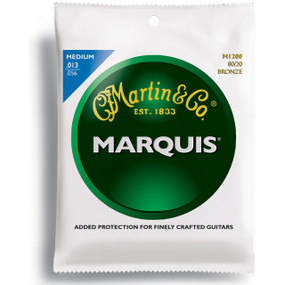 Martin M1200 Marquis 80/20 Bronze Acoustic Guitar Strings, Medium