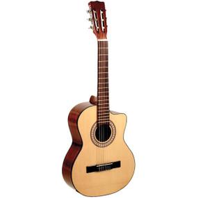 Lucida LG-RQ1 Cutaway Spruce Top Acoustic Requinto Guitar, Natural