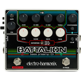 EHX Electro-Harmonix BATTALION Bass Preamp and DI Effects Pedal