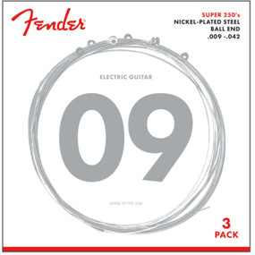 Fender 250L Super 250's Nickel-Plated Steel Light Electric Guitar Strings 3-PACK