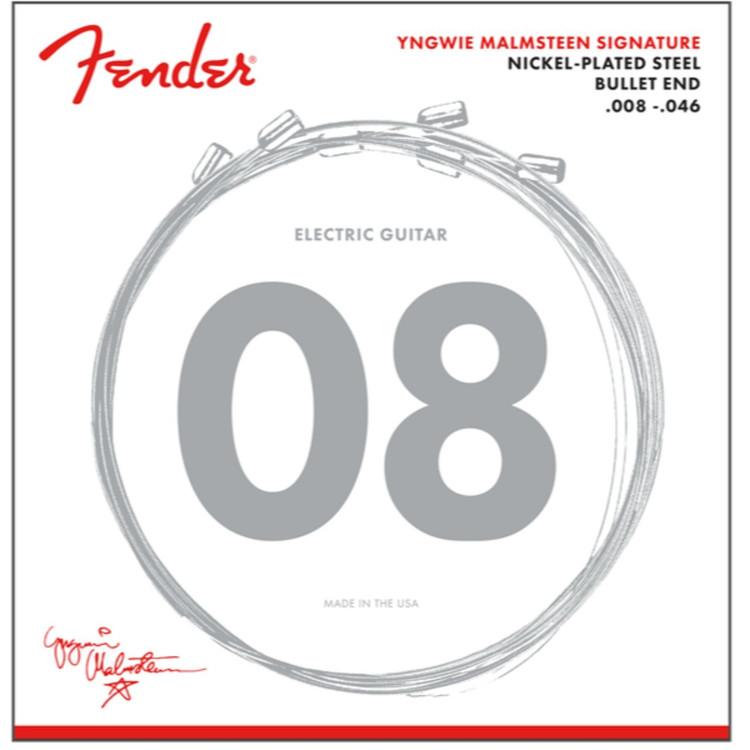 Fender Yngwie Malmsteen Signature Nickel-Plated Steel Electric Guitar Strings, .008-.046 Gauges