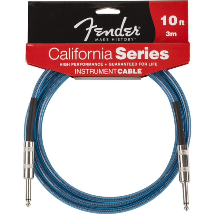 Fender 099-0510-002 California Series 10ft Instrument Cable, Lake Placid Blue