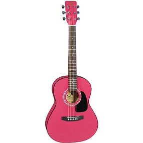 J Reynolds JR14PK 36-Inch Acoustic Guitar, 3/4 Size, Princess Pink