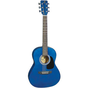 J Reynolds JR14TBL 36-Inch Acoustic Guitar, 3/4 Size, Transparent Blue