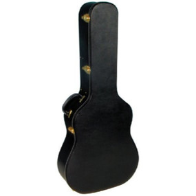 MBT Cases MBTAGCWBK Wood Hardshell Dreadnought  Acoustic Guitar Case, Black