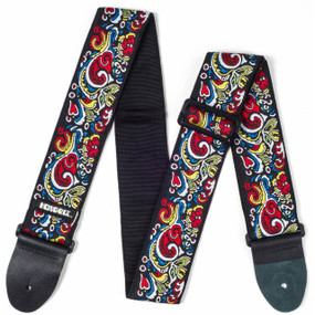 "Dunlop JH03 Jimi Hendrix Love Drops Guitar Strap, 2"" Adjustable"