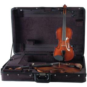Guardian CV-032-V Double Violin and Viola Case, Black
