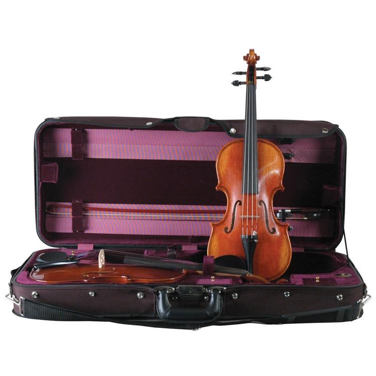 Guardian CV-032 Double Violin Suspension Case, Black
