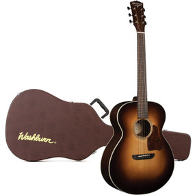 Washburn G200SWE Revival Solo DeLuxe All-Solid Acoustic Electric Guitar w/ Case, 1939 Vintage Sunburst (RSG200SWEVSK)