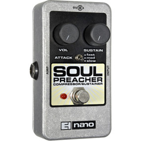 Electro-Harmonix EHX Soul Preacher Compressor / Sustainer Guitar Effects Pedal