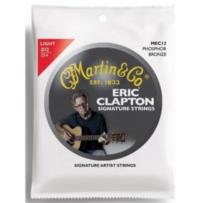 Martin MEC12 Eric Clapton's Choice Signature Phosphor Bronze Acoustic Guitar Strings, Light