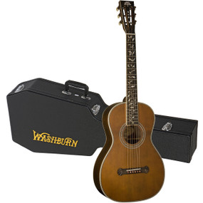 Washburn Revival Series R320SWRK All-Solid Parlor Acoustic Guitar w/ Case
