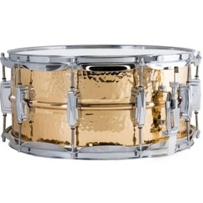 "Ludwig LB552K Bronze Phonic Snare Drum, Hammered Shell w/ Imperial Lugs, 6.5""x14"""