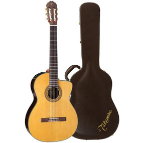 Takamine TC132SC Solid Cedar Top Classical Acoustic Electric Guitar w/ Case